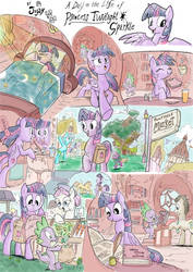 Jowybean's A Day in Equestria page 1 - colored