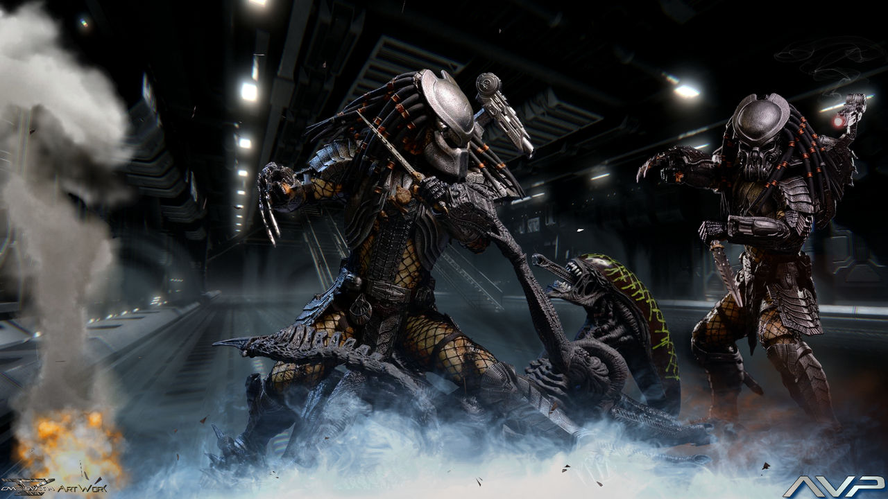Alien Vs Predator Avp Hot Toys Hd Wallpaper By Davian Art On