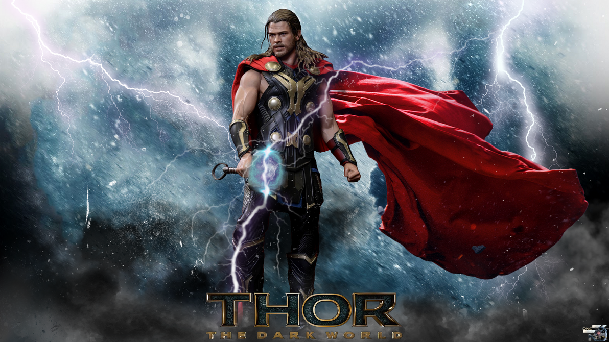 thor the dark world hot toys full hd wallpaper by