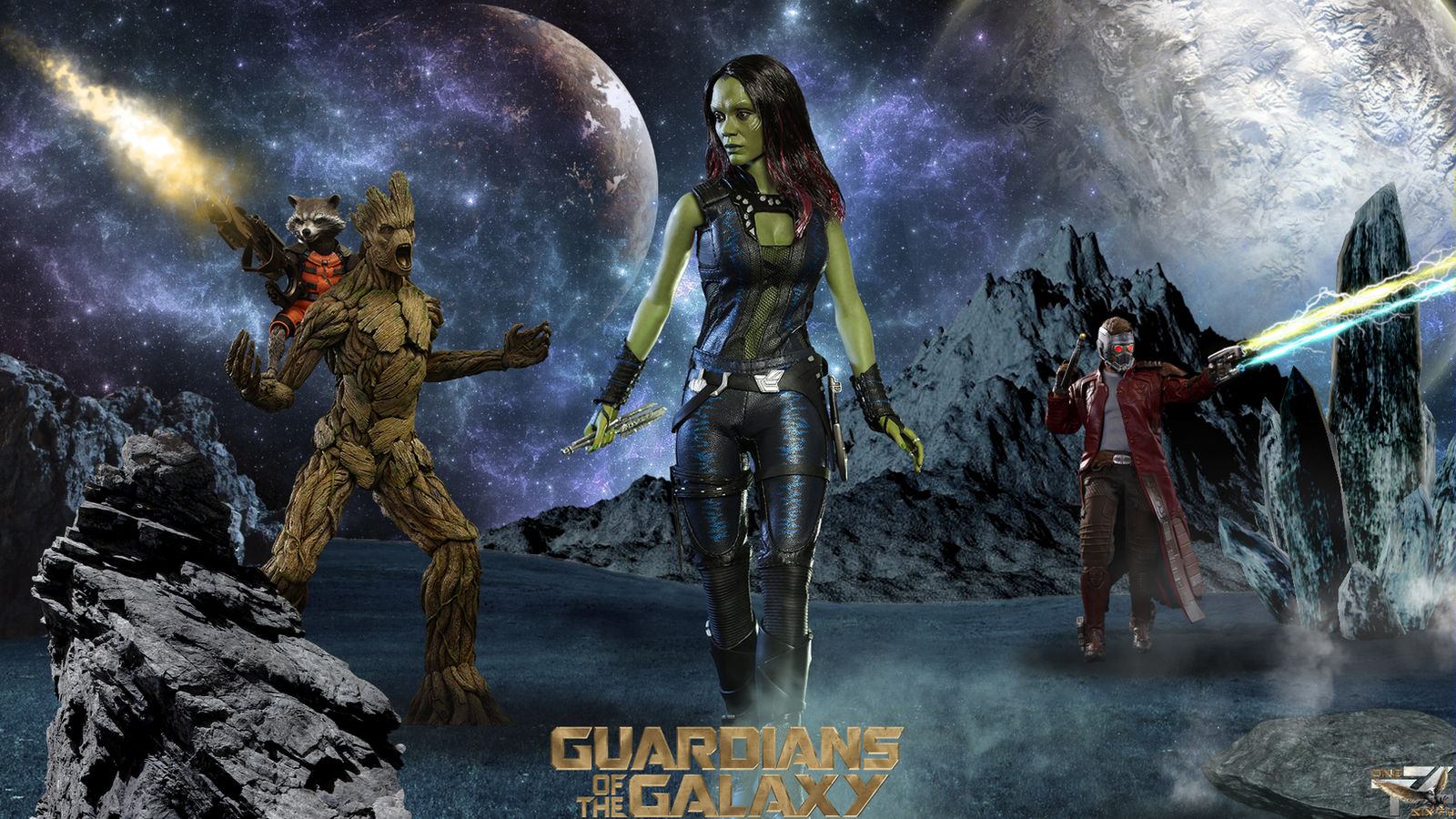 Guardians Of The Galaxy Hot Toys Hd Wallpaper By Davian Art On