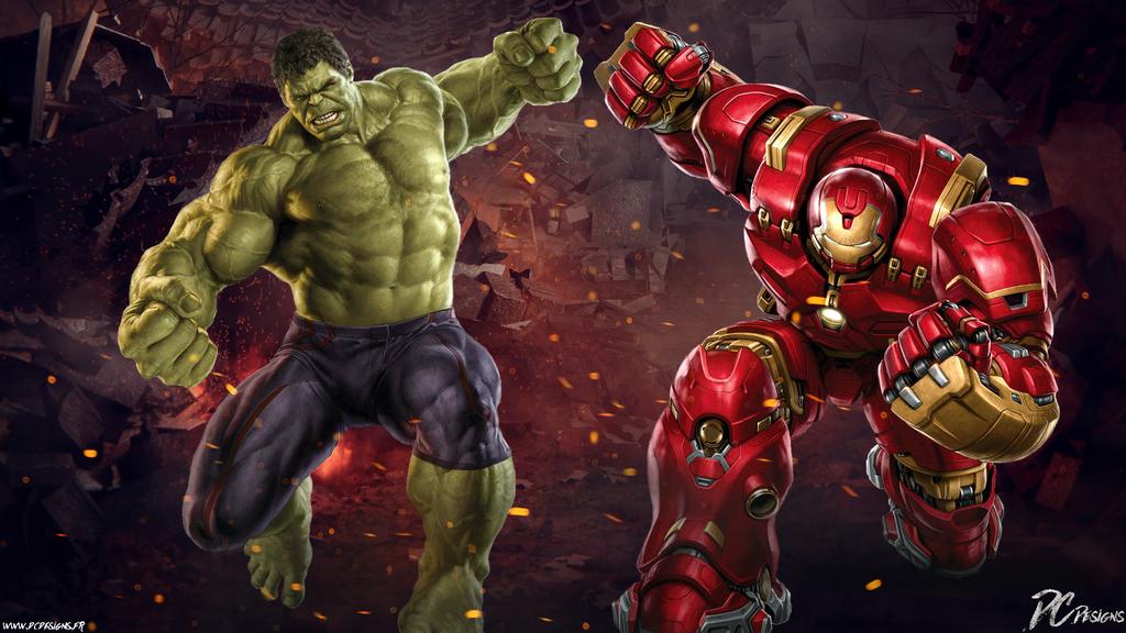 how to draw hulkbuster vs hulk