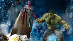The Vision and Hulk