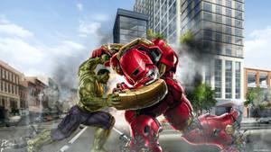 Hulk Vs Hulkbuster AAOU