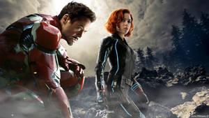 Avengers AOU Iron Man and Black Widow