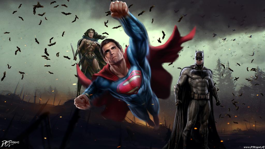 Batman V Superman Dawn Of Justice Trinity By Davian Art