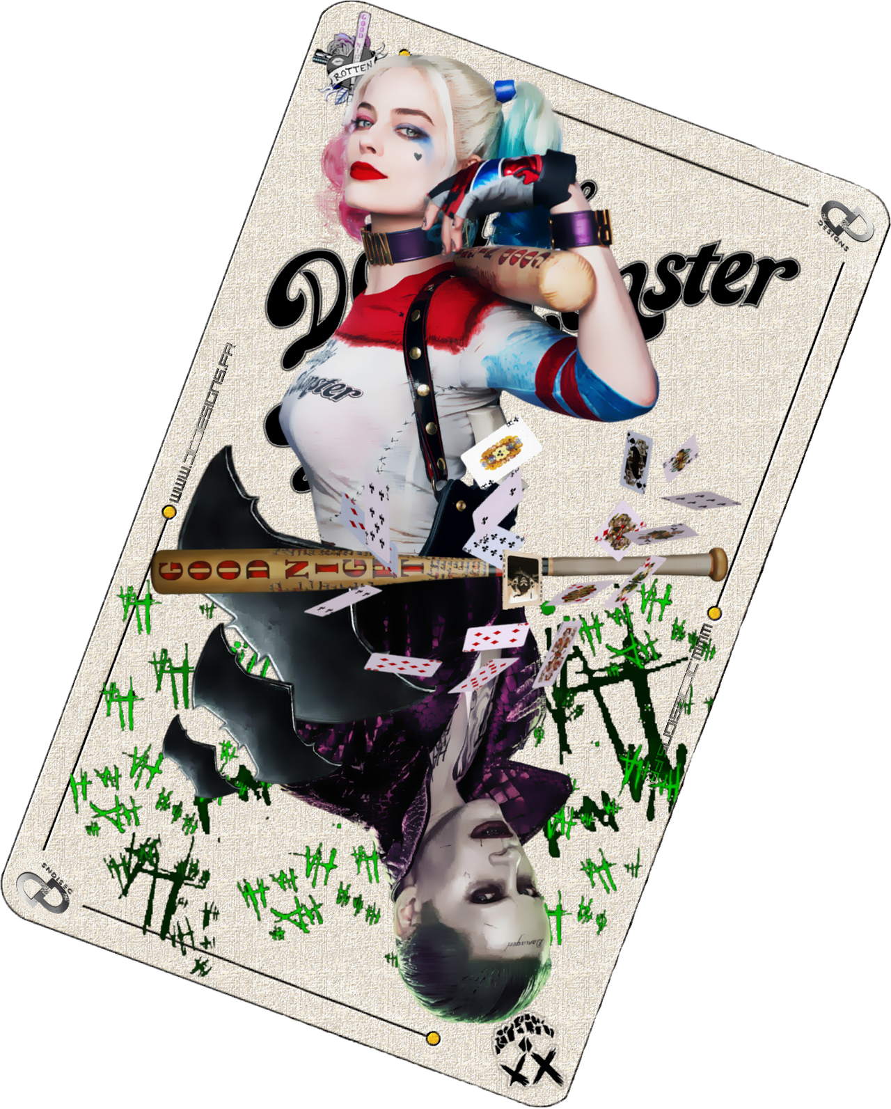 The Joker Card Suicide Squad By Davian Art On Deviantart