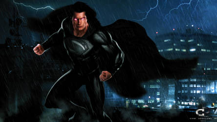 JUSTICE LEAGUE SUPERMAN by Davian-Art