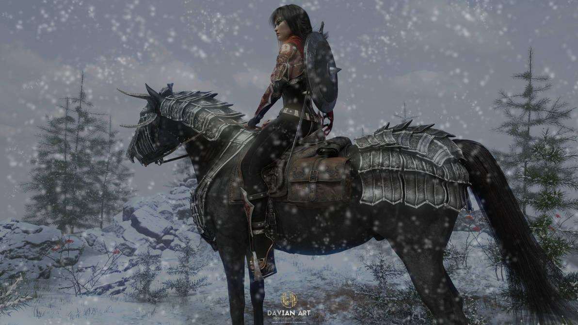 Qiong The Winter Warrior by Davian-Art