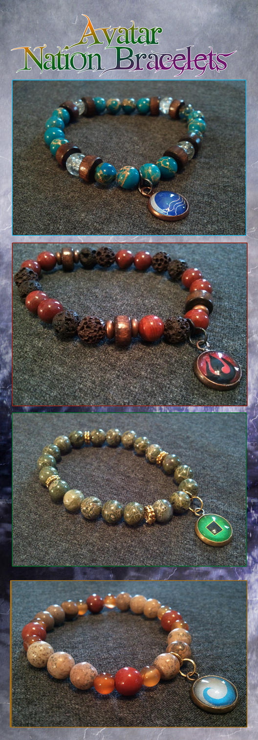Avatar Nation Bracelets by CrimsonDenizen