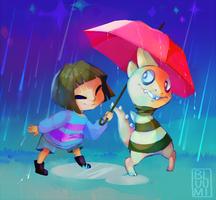[undertale] Under the Raindrops by bluumi