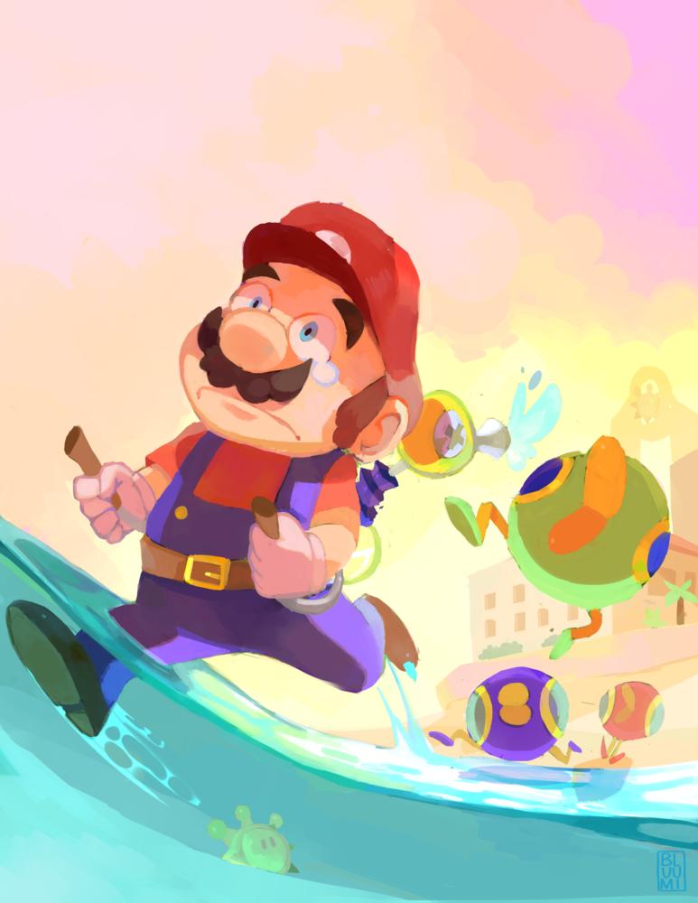 Super Mario Sunshine by bluumi