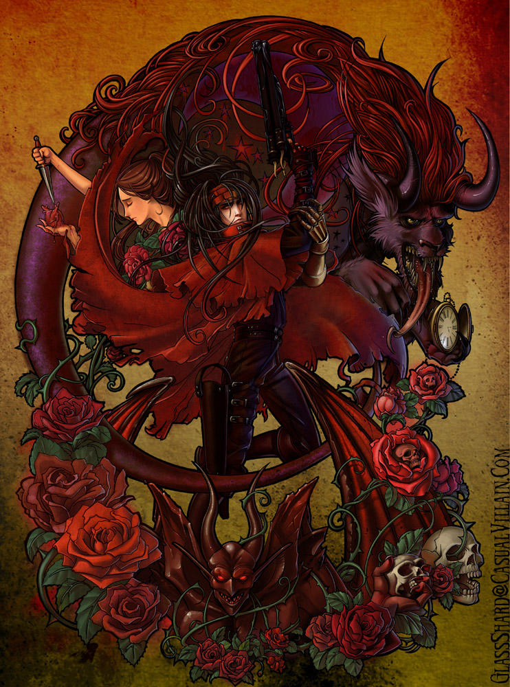 Vincent Valentine And Lucrecia Crescent