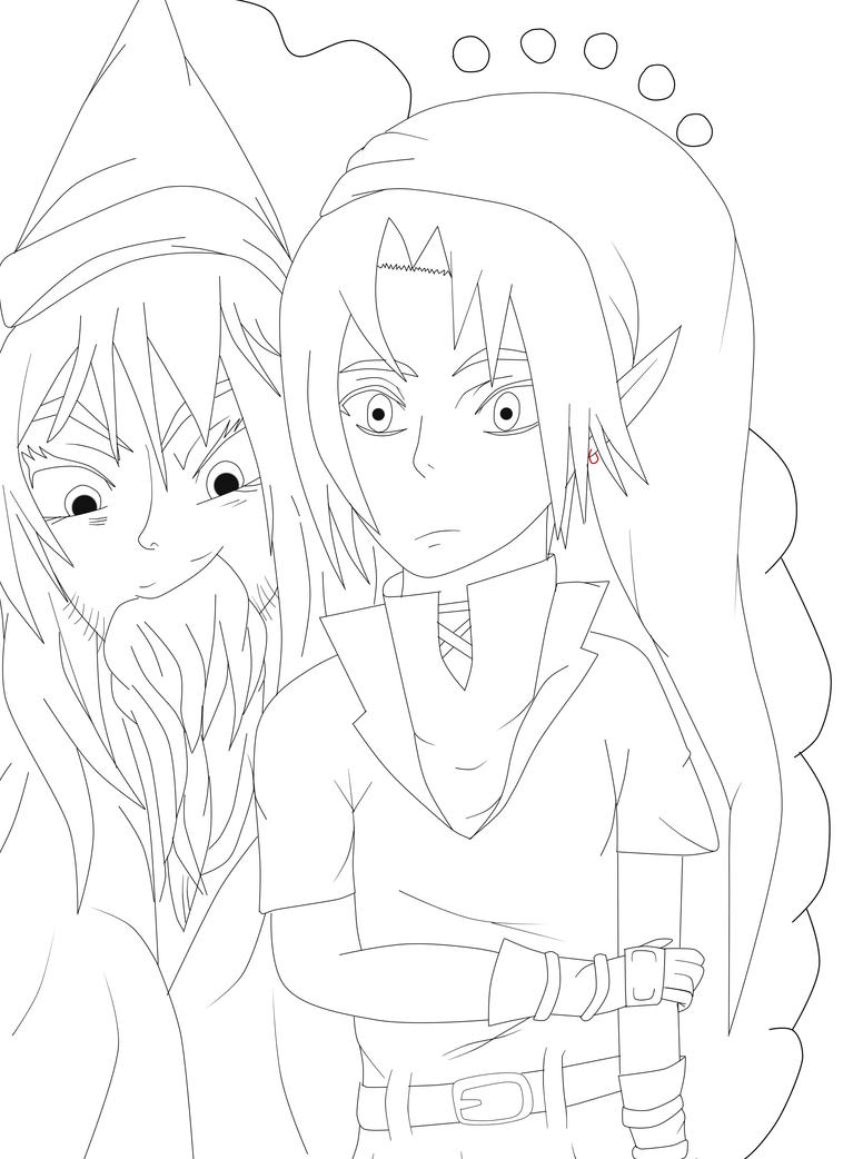 Dark Link Pages Coloring Pages