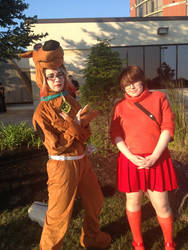 Scooby-Doo And Velma by sasukexnaruxsakura