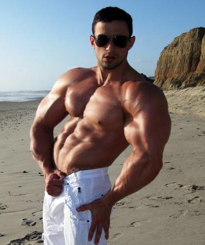 Muscular shirtless guys