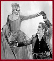Emma Swan and Killian Jones dancing 2 by RoseRedArt