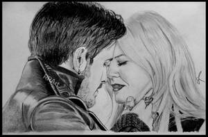 Killian x Emma by RoseRedArt