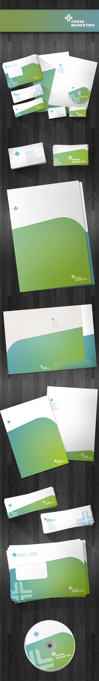 Cross Marketing Stationery Package by Lung2005