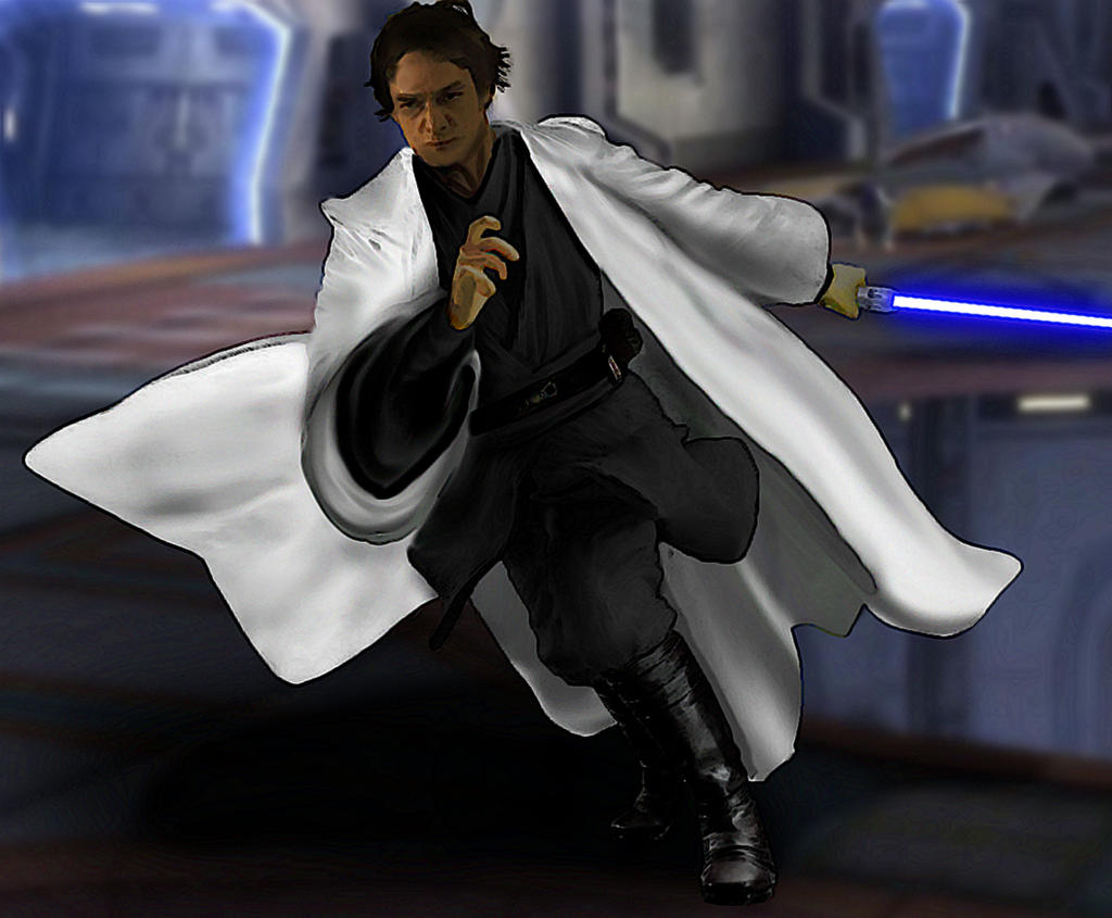 James McAvoy Jedi Concept Art by hk-1440