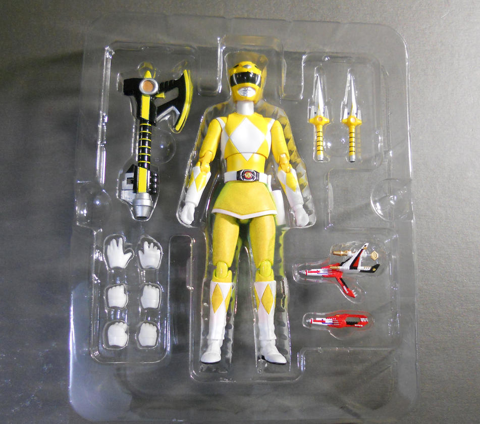 Custom Mighty Morphin' Yellow Ranger with skirt by hk-1440