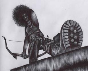Sky huntress by Aporopa