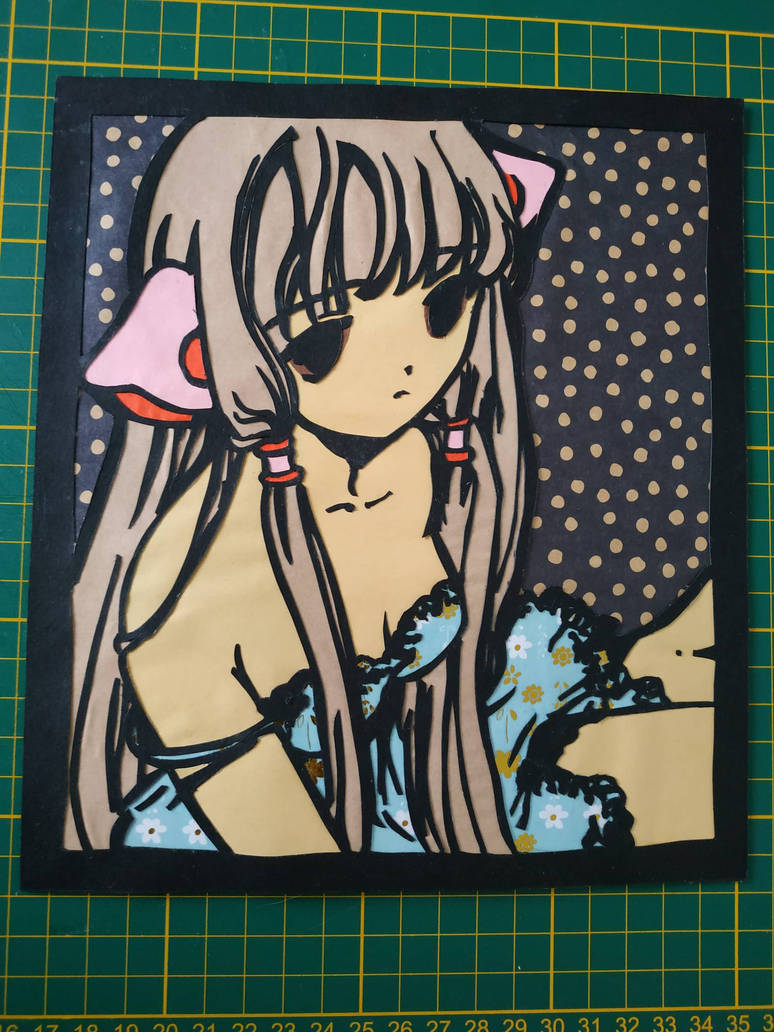 Chii Papercut (Chobits) by JohnMoogle