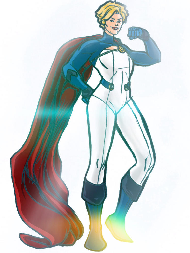 Power Girl Redesign full body by CJ-Williams