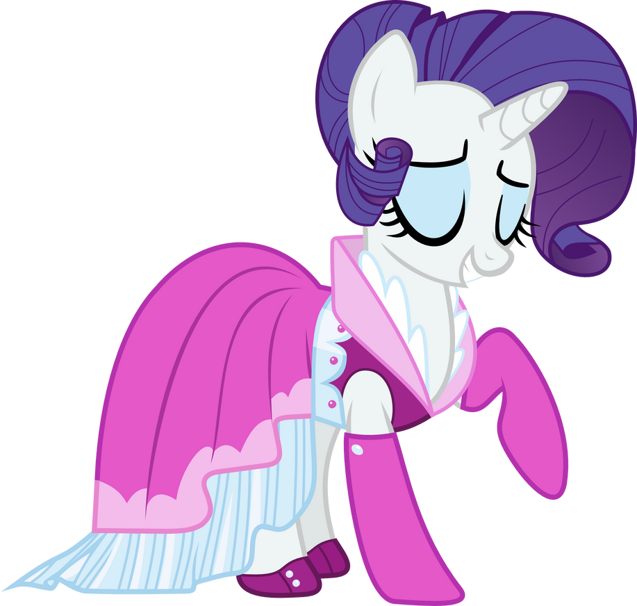 Rarity New Dress Vector by CrimsonBeat on DeviantArt
