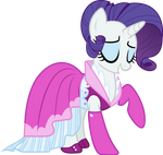 Rarity New Dress Vector