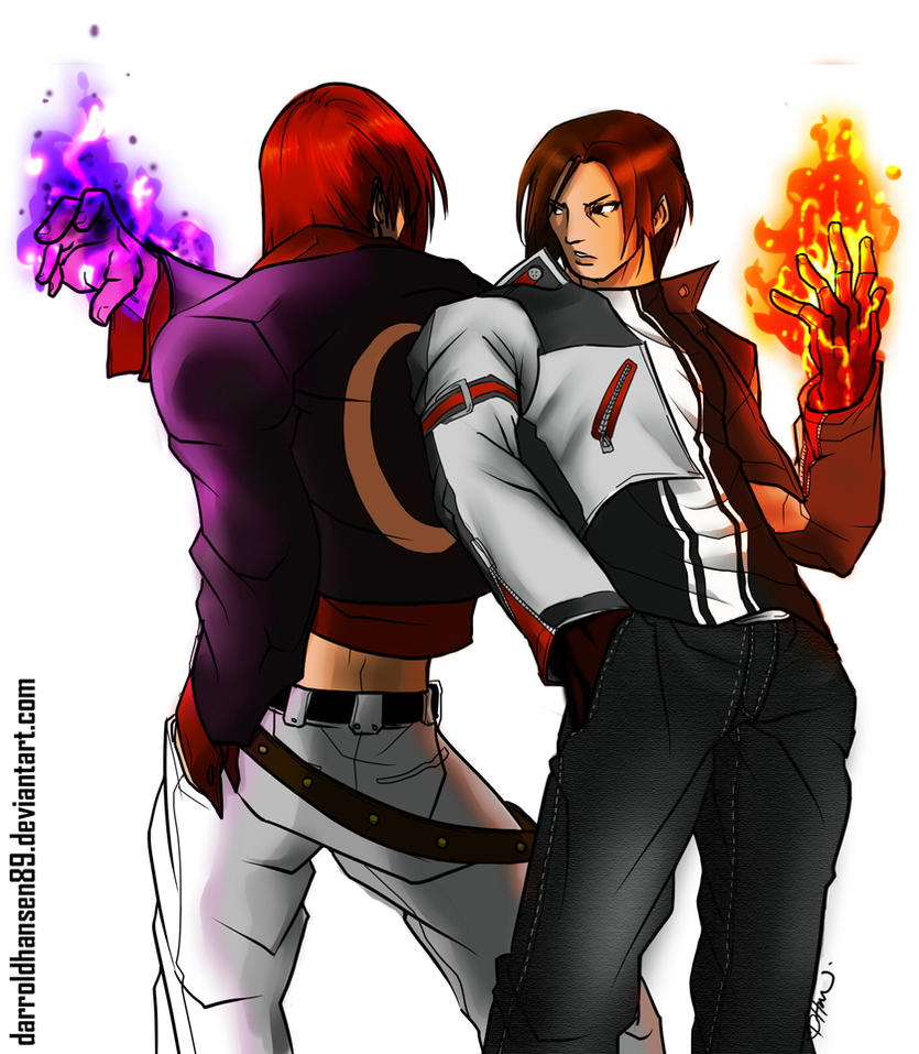 Kyo and Iori by DarroldHansen