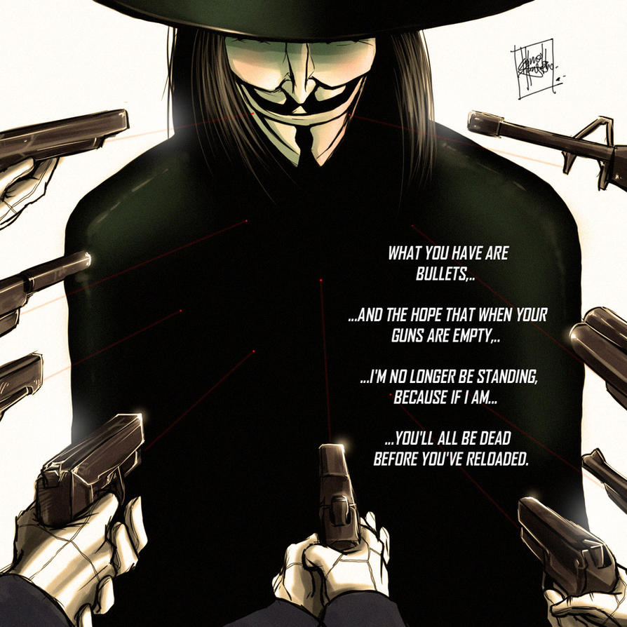 V for Vendetta by  V Is For Vendetta Quotes