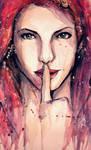 Silence NOW - watercolour by DarroldHansen