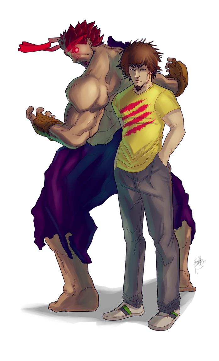 Daigo Umehara and Evil Ryu by DarroldHansen