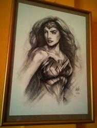 Wonder Woman Charcoal by DarroldHansen
