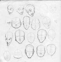 BFA Thesis- Face Types by KCretcher