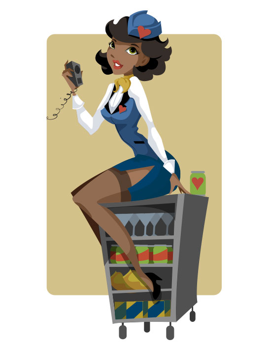 Pin-Up 3 of Hearts Flight Attendant by KCretcher