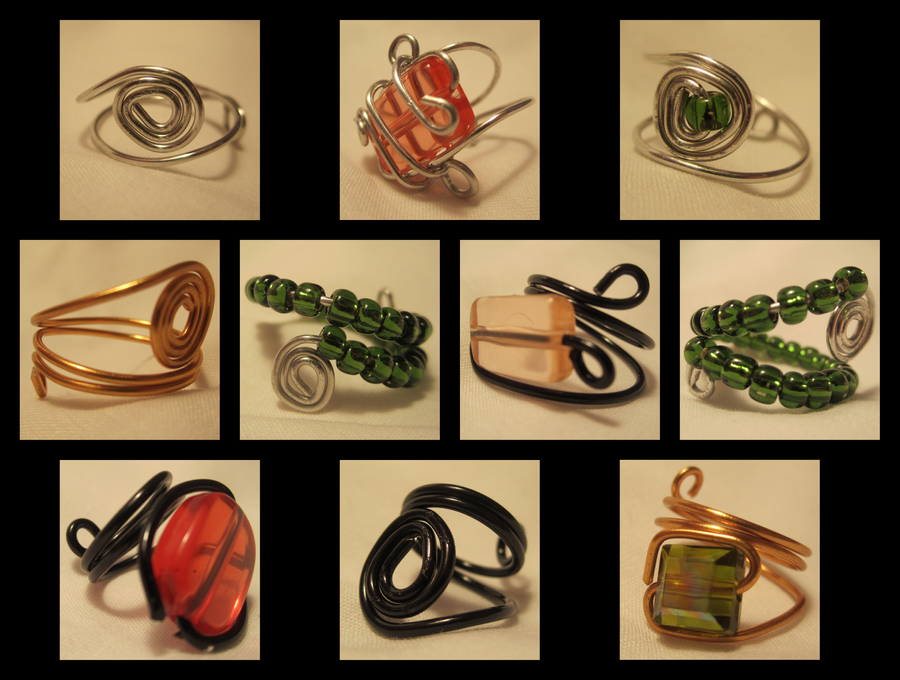 Wire Rings by jesspotter