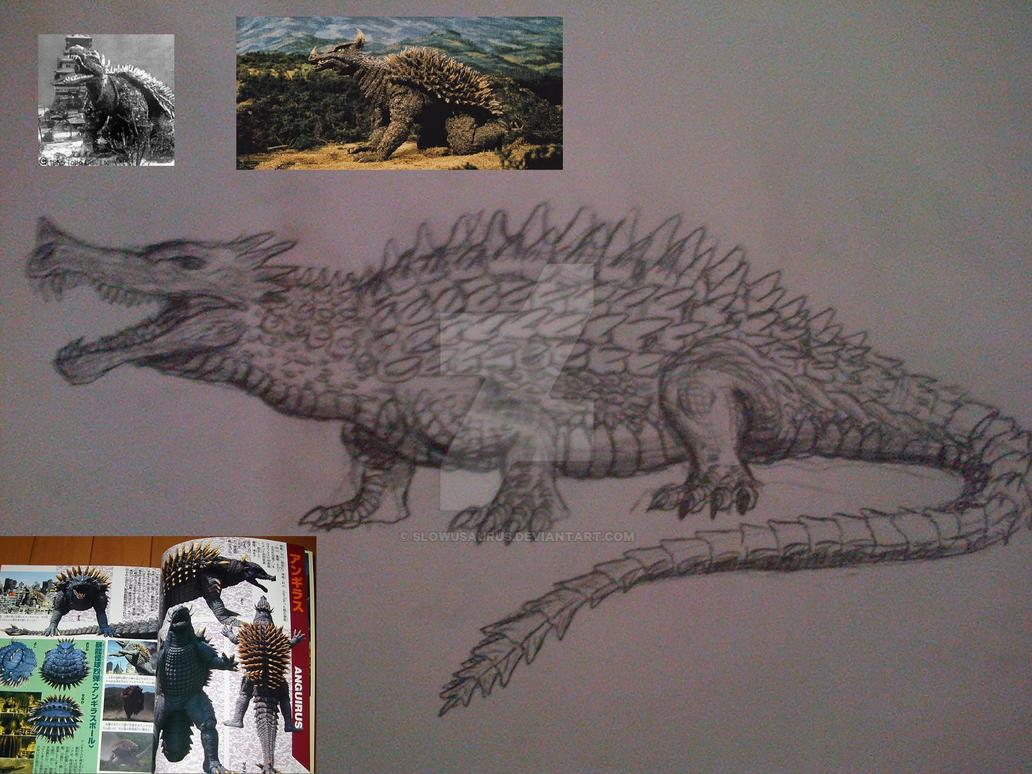 Dibujos Godzilla Raids Again 1955 Para Colorear: Anguirus By Slowusaurus On DeviantArt