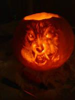 American Werewolf in Pumpkin by CheeseWarrior