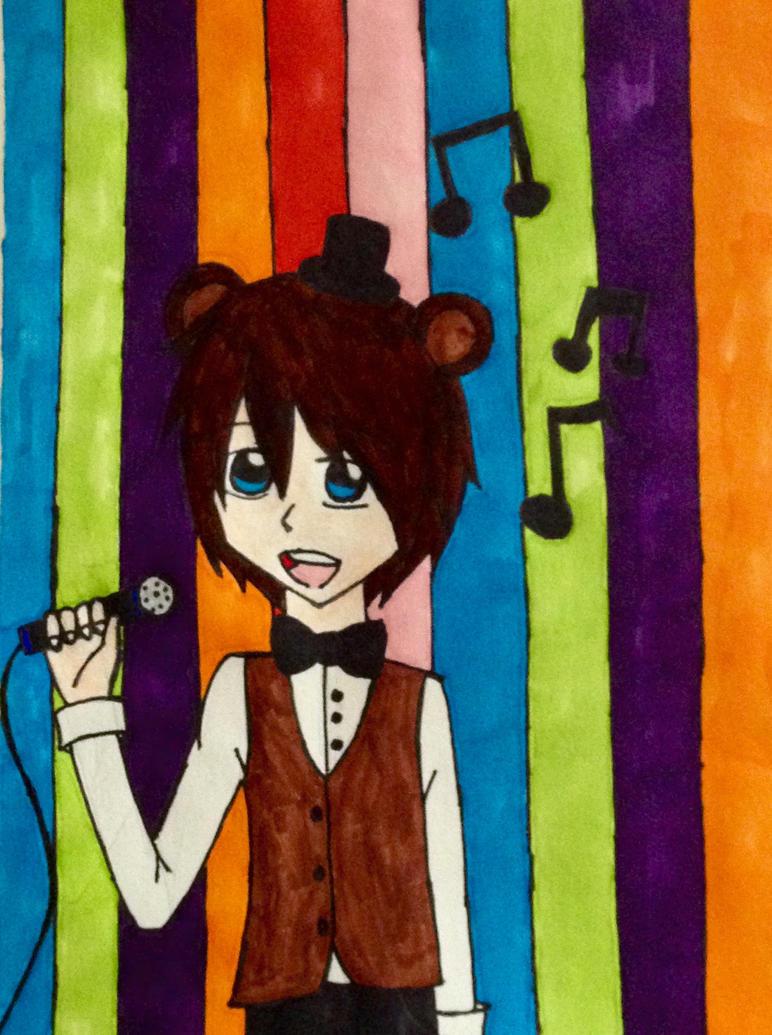 Freddy Fazbear Human by kmtvm123