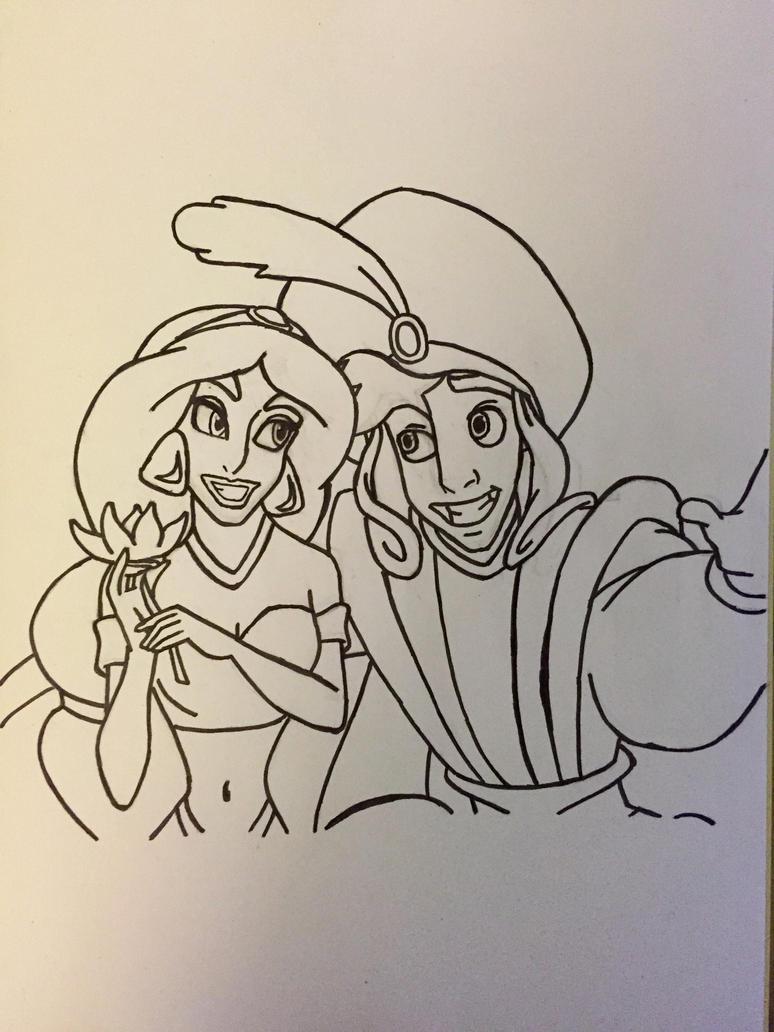 Aladdin and Jasmine  by kmtvm123
