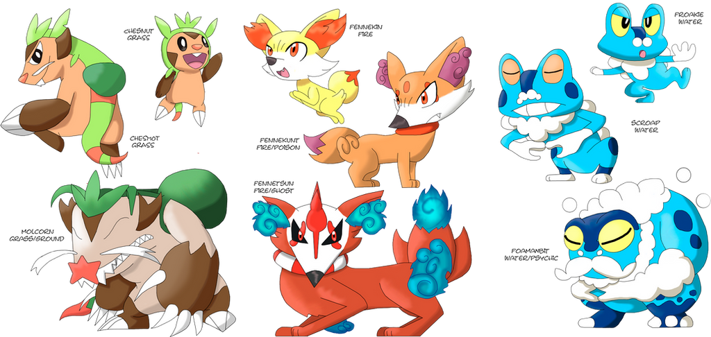 all starter evolutions x and y