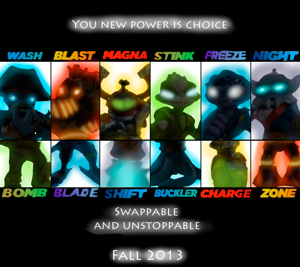 Skylanders Swap force poster by rizegreymon22