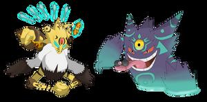 Mega Alacolossal y Mega Gigengar