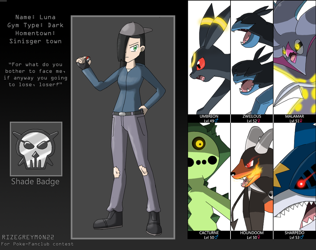 Uncategorized Dark Type contest dark type gym leader luna by rizegreymon22 on deviantart rizegreymon22
