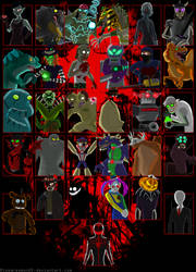 MONSTER SMASH-Character Roster (OUTDATE) by rizegreymon22