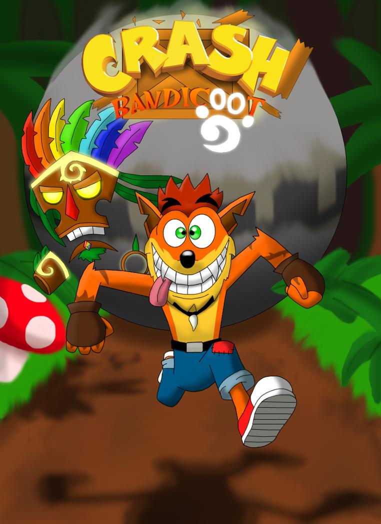 Crash Bandicoot comic - Cover by rizegreymon22