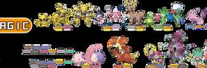 Fakemon type: Magic by rizegreymon22