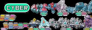 Fakemon type: Cyber by rizegreymon22