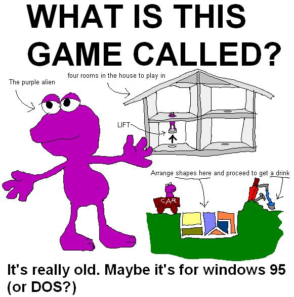 Purple Alien 90's game HELP ME by Efaniel on DeviantArt